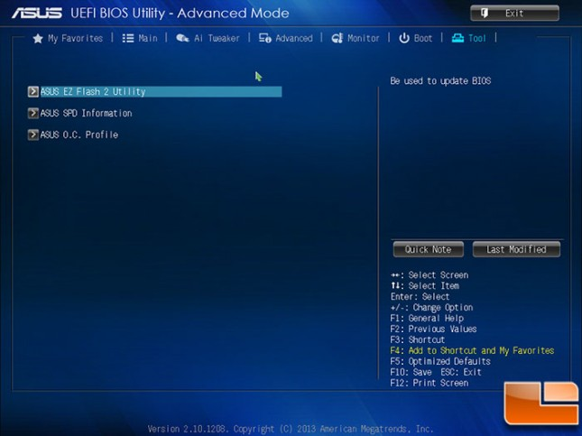 ASUS A88X-PRO BIOS Tools