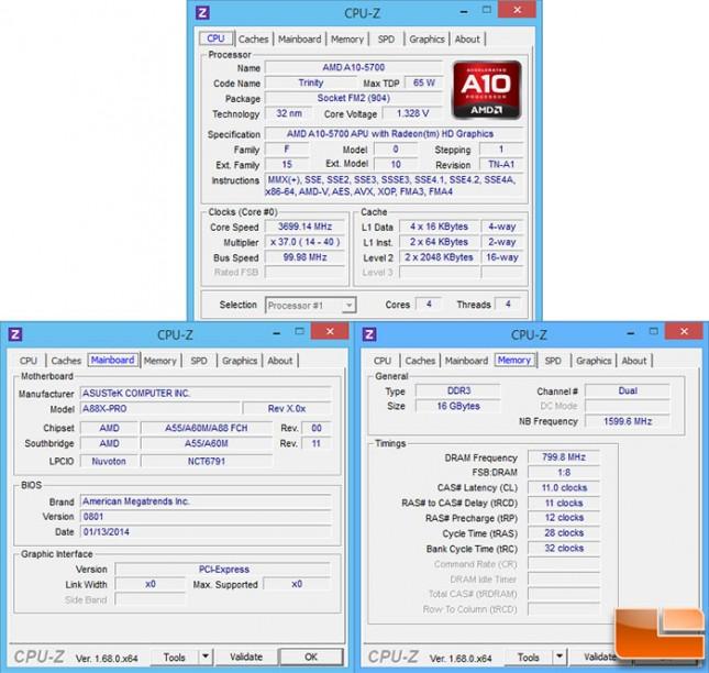 A88X-PRO CPU-Z
