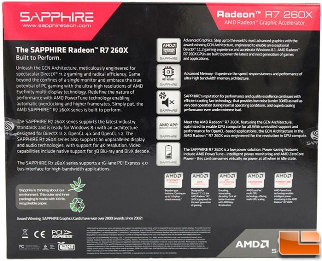 Sapphire R7 260X Box Back