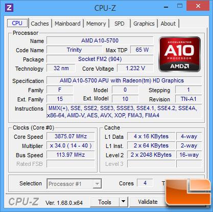 ASUS A88X-PRO CPU-Z OC