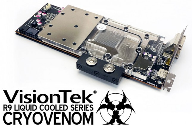VisionTek Announces CryoVenom As Industry's First And Fastest  Custom-Built Liquid Cooled R9 290 Graphics Card