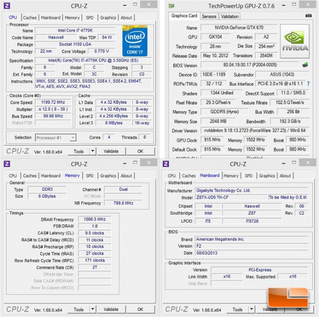 GIGABYTE Z87X-UD5 TH System Settings
