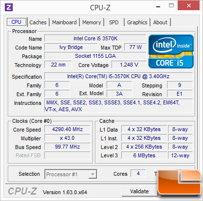 GA-Z77-UP5-TH 3570K OC
