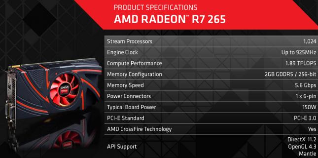 radeon-r7-265-specs