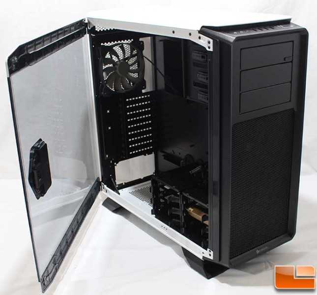Corsair Graphite 760T Internal Doors Open