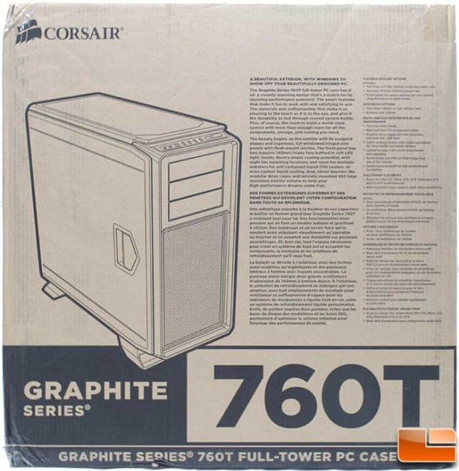 Corsair Graphite 760T Packaging Front