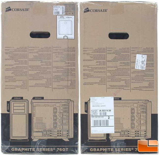Corsair Graphite 760T Packaging Sides