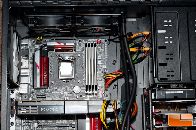 Corsair H105 Radiator Installed