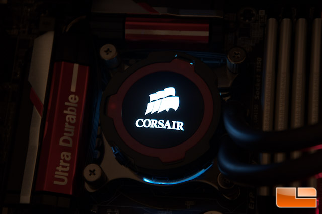 Corsair H105 Pump Color