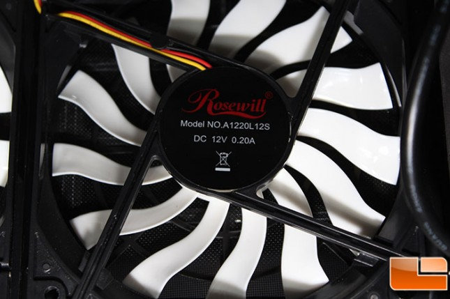 Rosewill Legacy MX2 Bottom Fan Close-Up