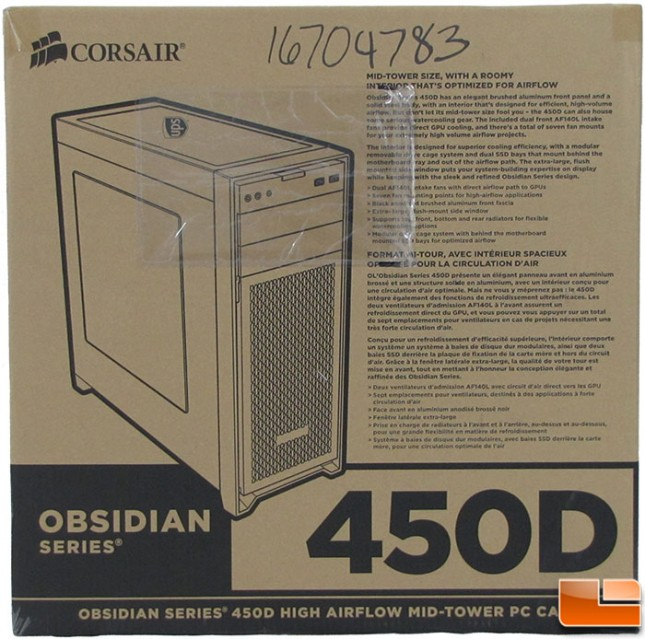 Corsair Obsidian 450D Box Front