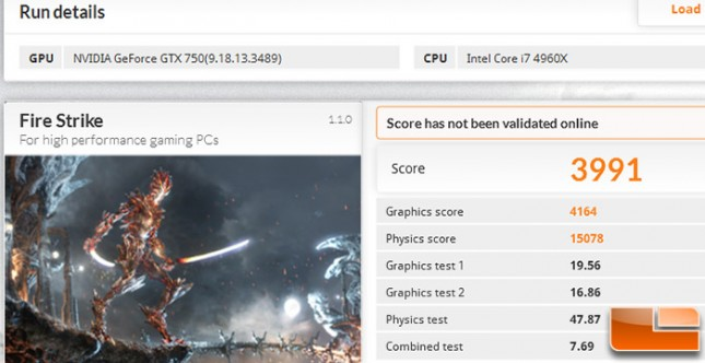 GeForce GTX 750 1GB 3DMark