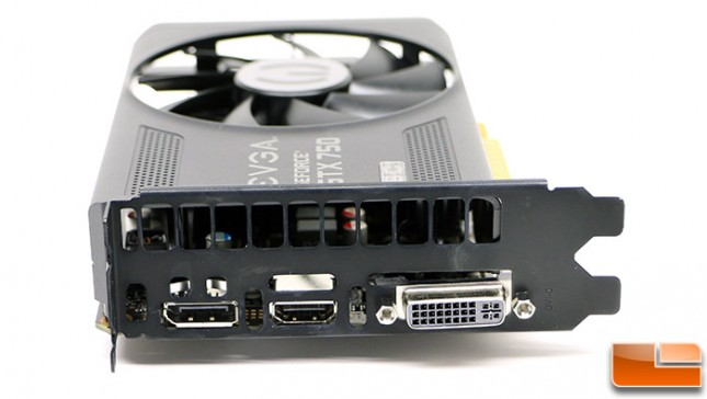 EVGA GeForce GTX 750 1GB SC Display Outputs