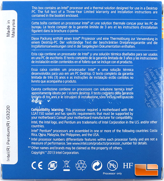 Intel Pentium G3220 Dual Core Processor Review