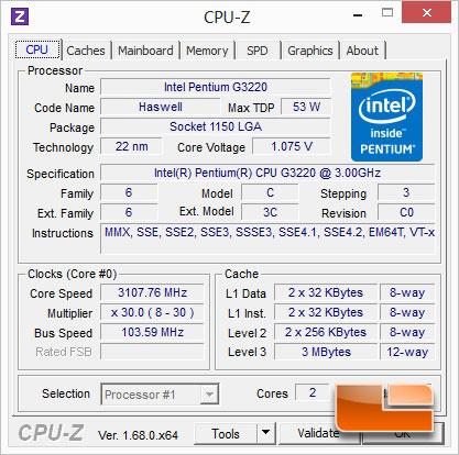 Intel Pentium G3220 Overclocking