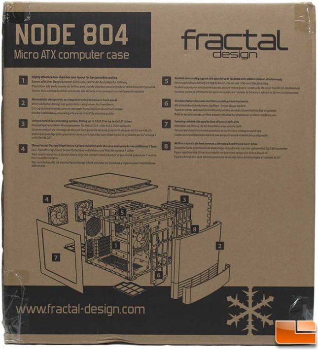 Fractal Design Node 804 Packaging Back