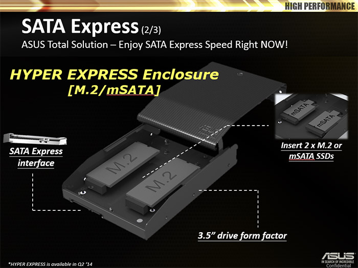 You Have Two 25 SATA Express External Enclosures That House Either MSATA Or M2 SSDs And A Larger 35 Version Houses Notebook Hard