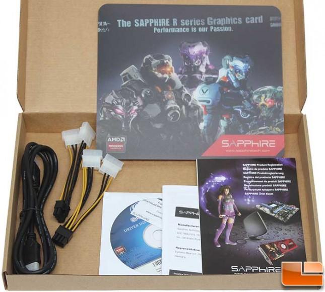 Sapphire Vapor-X R9 290 OC Box Accessories