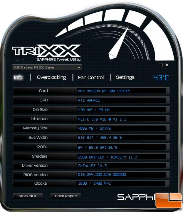 Sapphire Vapor-X R9 290 TriXX Information