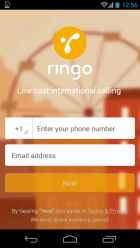 Ringo 01 First screen