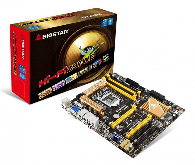 Biostar Hi-Fi Z97WE v5.0 and box