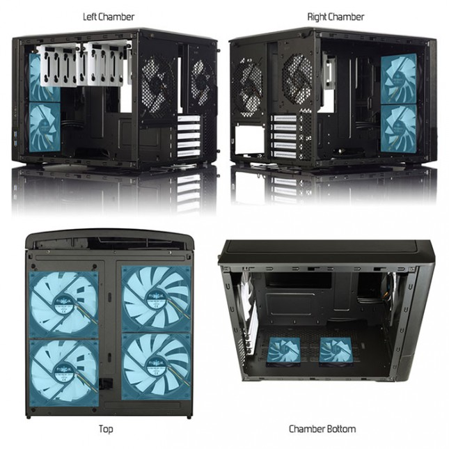 Fractal Design Node 804 Vendor Fan Locations