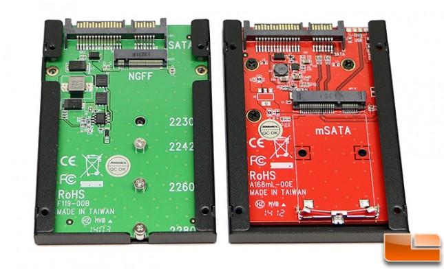 Addonics AD25MSD mSATA Adapter