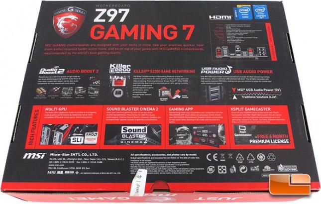 ... - Page 4 of 19 - Legit ReviewsMSI Z97 Gaming 7 Intel Z97 Motherboard