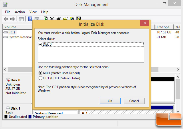 Windows 8.1 Disk Management