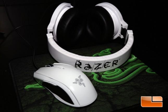 Razer Taipan White and Kraken Pro