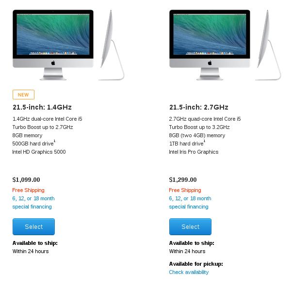 iMac Model Comparison