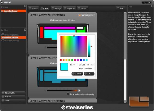 tecknet keyboard how to change colour
