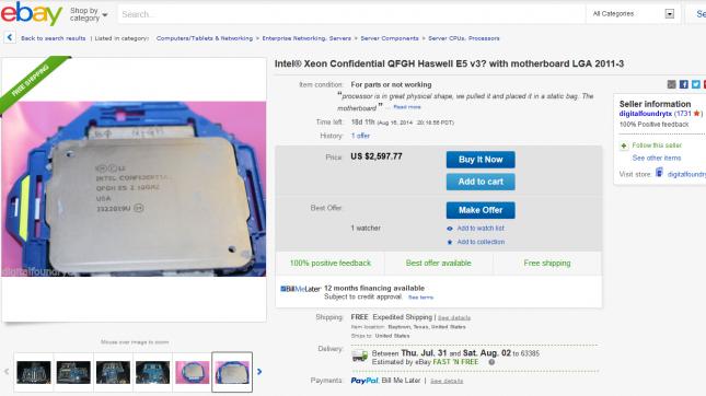 Intel QFGH haswell-e