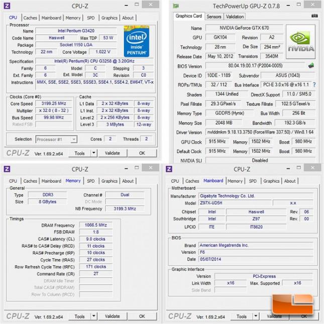 Intel Pentium G3258 System Settings