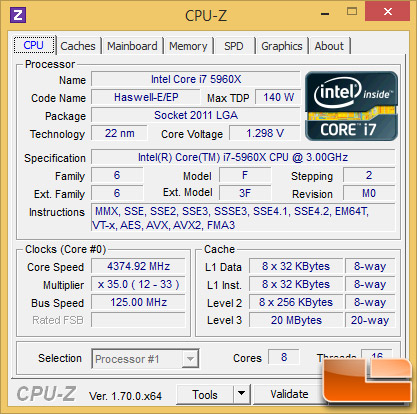 Intel Core i7-5960X Overclock