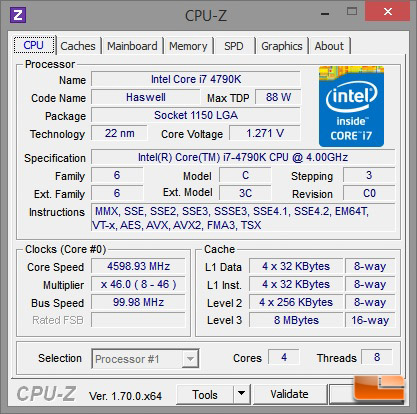Digital Storm Bolt 2 CPU-z