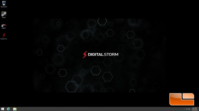 Digital Storm Bolt 2 First Boot - Desktop