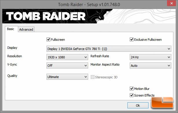 Digital Storm Bolt 2 Tomb Raider Settings