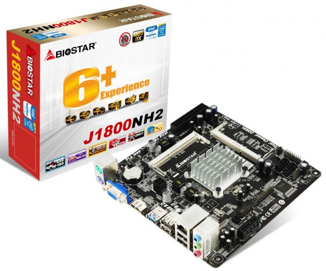 BIOSTAR J1800NH2 BayTrail-M SoC Motherboard Announced