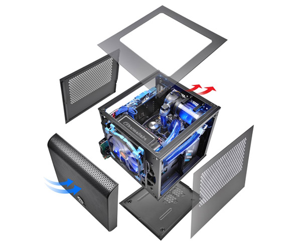 Thermaltake Core V1 mini-ITX Chassis Cooling