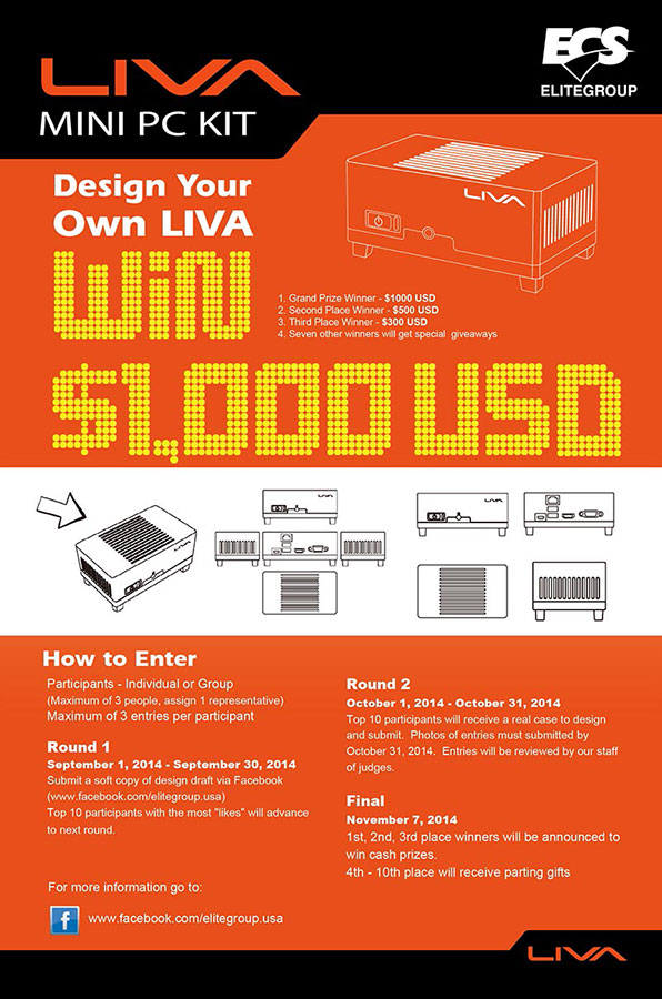 ECS Design Your Own LIVA Competition