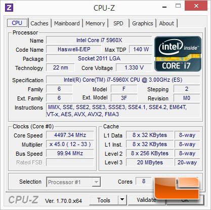 EVGA X99 Classified Overclocking Intel Core i7-5960X