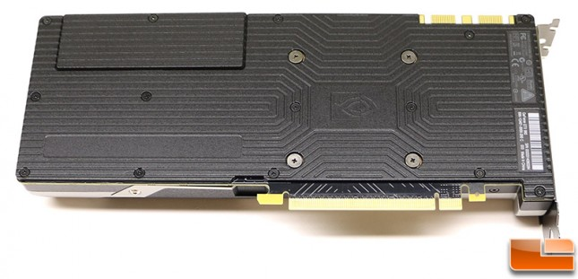 NVIDIA GeForce GTX 980 Video Card Backplate