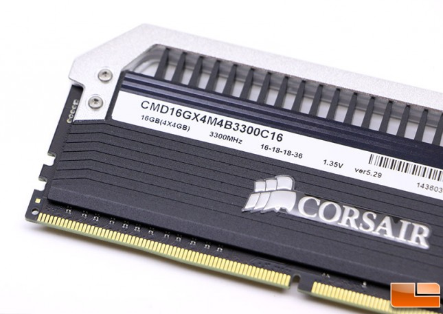 Corsair DDR4 3300MHz Label
