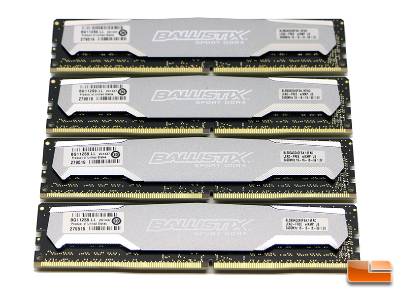 Crucial Ballistix Sport DDR4 2400MHz 32GB Memory Kit Review - Page 3