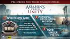 Assassin's Creed: Unity Pre-Order Bonuses