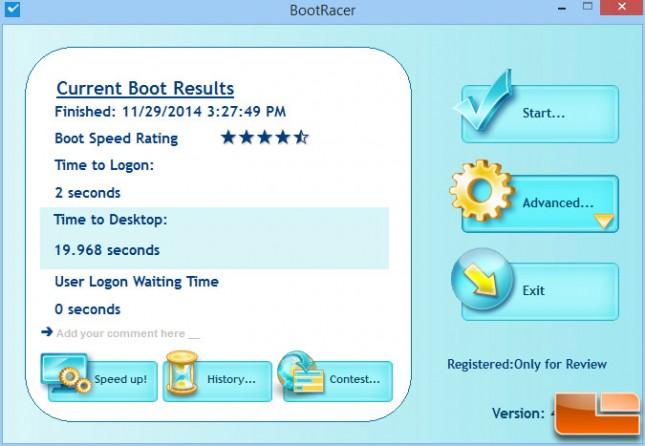 Boot Racer - Samsung 850 EVO 120GB