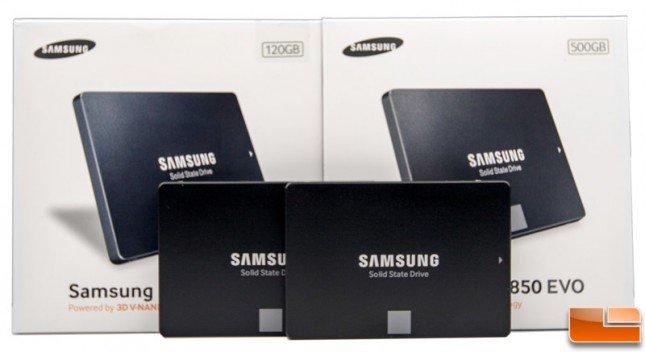 Samsung 850 EVO 120GB 500GB