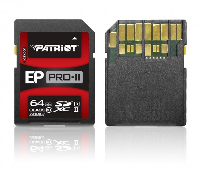 Patriot Announces New UHS-II EP PRO-II SDXC Card – 250MB/s Write Speeds