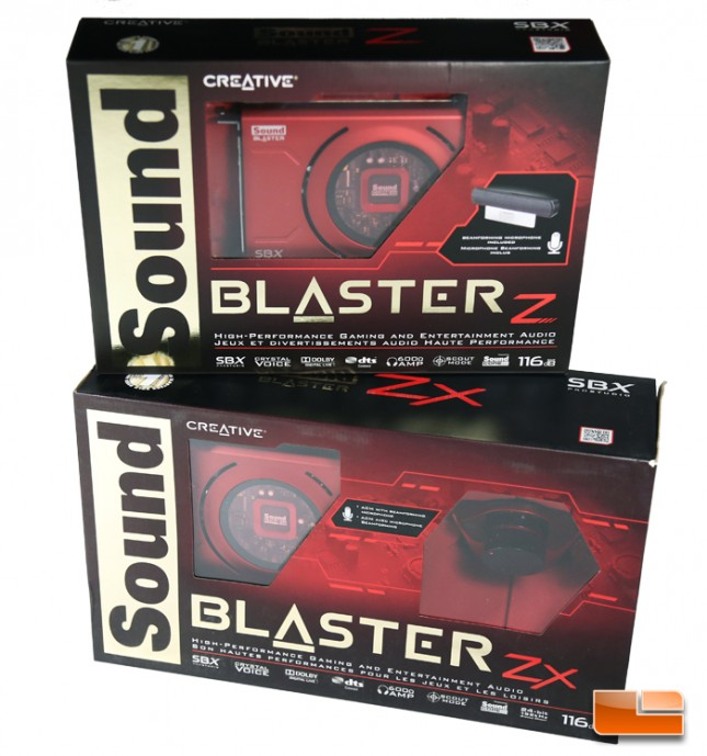 Creative Sound Blaster Z and Zx